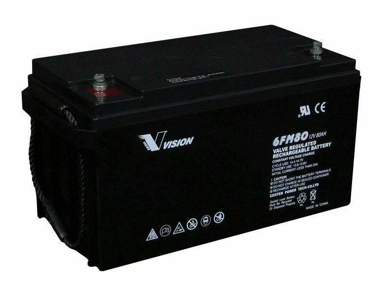 vision 12v 80ah deep cycle agm battery fm80 wave inverter. Black Bedroom Furniture Sets. Home Design Ideas